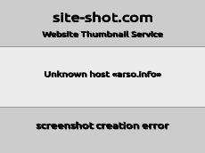 Скриншот для сайта arso.info создается...