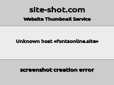 Скриншот для сайта fontsonline.site создается...